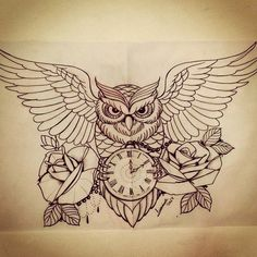 awesome owl drawing