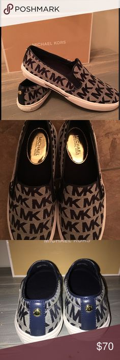 ⬇️$$$ DROP⬇️ New in Box Michael Kors navy sneakers New in Box, Michael Kors sneakers. Very sharp navy color, multiple sizes available! Michael Kors Shoes Sneakers