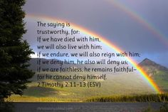 He Is Faithful - 2 Timothy 2:11–13 - Verse of the Day