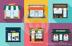 Resultado de imagem para fachada de loja cafeteria e restaurantes