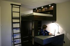 Inspiring Contemporary Designing Of Beds With Desks Underneath ...