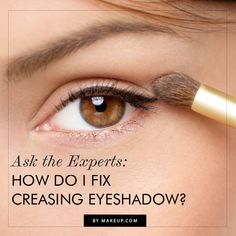 how to fix creased eye shadow