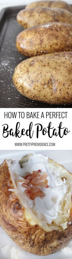 How to bake a perfect baked potato! There is no other way- a few extra minutes makes all the difference with these babies!