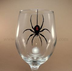 Hey, I found this really awesome Etsy listing at https://www.etsy.com/listing/164570404/spider-wine-glass-black-widow-spider