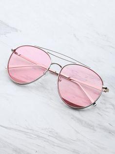 901c2efcf3d6 Glasses · Metal Top Bar Aviator Sunglasses