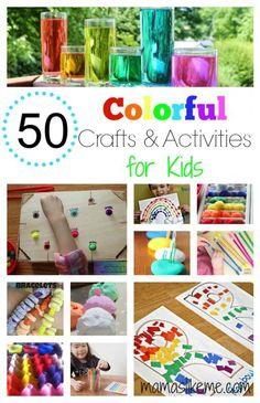 50+ Color Crafts & Activities for Kids #colors #preschool #rainbow