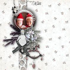 """Ma page avec le kit """" Noël de mon Enfance"""" de Josy Création"""