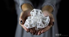 3d Printed Sugar!  Seen on:  http://3dprintboard.com/showthread.php?1019-3D-Printed-Sugar-Edible
