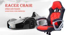 Italian design RACING Swivel Office Chair Leather Computer Desk Bucket Seat GAME | eBay