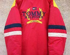 Vintage Rare ! 90 s TOMMY HILFIGER Crest Grand Logo broderie Jacket · VestesTommy  Hilfiger 645e654e0aae