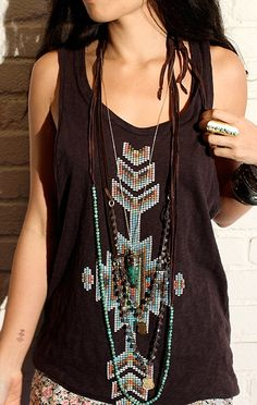 Embellished tanks.
