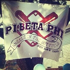 Pi Phi Angels in the Outfield bid day #piphi #pibetaphi