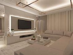 Ceiling Design Living Room, Living Room Decor Cozy, Kitchen Room Design, Elegant Living Room, Living Room Tv, Living Room Designs, Modern Tv Wall Units, Luxury Living, Modern Design