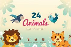 24 Animals Illustration By TWB Supply co.