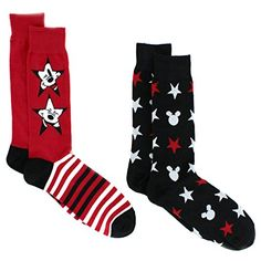 Mickey Mouse Mens 2 pack Crew Socks #MickeyMouse #Disney #Dad #YankeeToyBox #Costume #Novelty #DressSocks