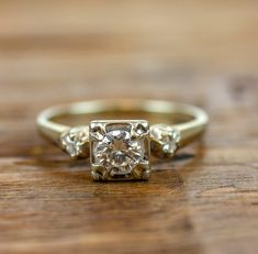 57789627949 Beautiful Retro Era Diamond Engagement Ring XCEAQ2-P | Products in ...
