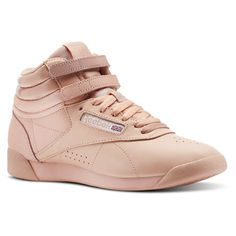 f25585662e5288 Reebok Shoes Women s Freestyle Hi x GLOW in Rose Gold Glow Nude Size 6 -  Lifestyle Shoes