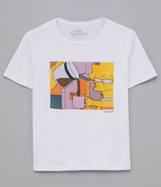 Cute Comfy Outfits, Cool Outfits, Fashion Outfits, Aesthetic T Shirts, Aesthetic Clothes, Cool T Shirts, Tee Shirts, Simpsons Shirt, T Shirt Painting