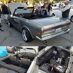 This rotary powered 510 showed up at Eagle Rock #Datsun #510 #dime #Datsun510 #rotary #rotaryengine #eaglerock