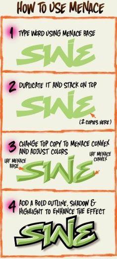 Papier à Polices / LHF Menace / Graffiti Fonts by manuela