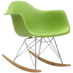 East End Imports EEI-147-GRN Plastic Molded Rocking Chair in Green