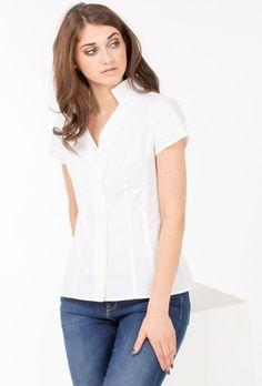 Bluzka koszulowa z krótkim rękawem