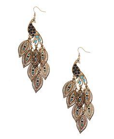 Peacock Chandelier Earrings | FOREVER21 - 1015035680