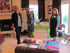 """With Kerry Cordero, image consultant and personal stylist, of The First Look, at our """"Keep, Store, or Toss"""" wardrobe analysis & storage ideas event.  It was a wonderful evening for all who attended!"""