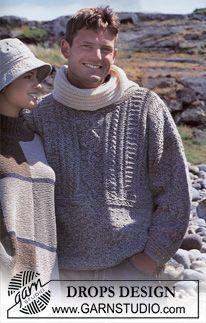 "DROPS men's jumper in double thread ""Silke-Tweed"". ~ DROPS Design"