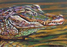 Paint Daily Texas: Monsieur Gator