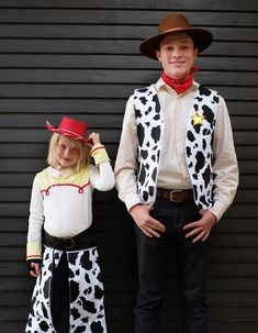 Jessie + Woody Halloween Costumes - Oleander + Palm Jessie Costumes, Woody Costume, Toy Story Costumes, Halloween Fashion, Halloween Costumes, Yarn Wig, Toy Story Theme, Matching Costumes