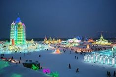 Harbin Ice Festival...does anyone know where this is?? I'll google it!!