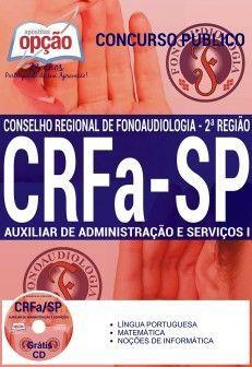 Concurso CRFa SP 2016  AUXILIAR DE ADMINISTRAÇÃO E SERVIÇO I
