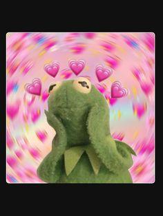 """Shaelin Janae- Kermit Heart Aesthetic Meme"" Lightweight Sweatshirt by shaelinja , Foto Cartoon, Cartoon Jokes, Frog Wallpaper, Disney Wallpaper, Wallpaper Spongebob, Funny Reaction Pictures, Funny Pictures, Sapo Meme, Frog Meme"