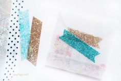 How to make glitter tape. Simple and pretty!