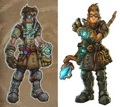 Torchlight 2 Alchemist - Polycount Forum Character Reference, Character Art, Character Design, Torchlight 2, Ancient Armor, Wow Video, Fantasy Male, First They Came, Alchemist