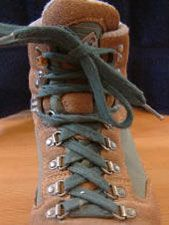 Downhill boot lacing - keep your toes from sliding forward so much