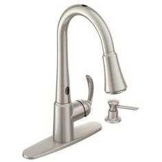 Moen Delaney With Motionsense Spot Resist Stainless 1 Handle Pull Down  Touchless Kitchen Faucet