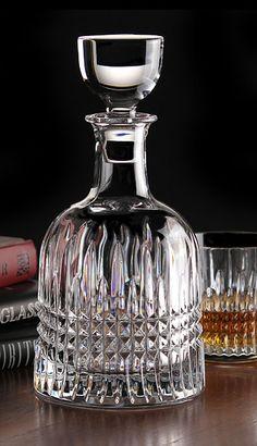 Waterford Lismore Diamond Bottle Decanter Crystal Glassware, Waterford Crystal, Waterford Lismore, Carafe, Cut Glass, Glass Art, Whisky, Glass Bottles, Perfume Bottles