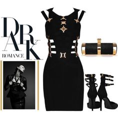 """Dark Romance - The Outfit That Will Leave Your Man Speechless!"" by latoyacl on Polyvore"