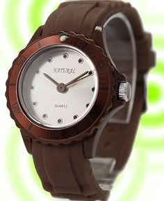 >> Click to Buy << ALEXIS Matt Silver Dial Brown Watchcase Silicone Brown Band Ladies Fashion Watch FW717A #Affiliate