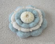 Handmade Crocheted Felted and Embellished Wool by reeddesign, $24.00