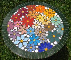 Mosaic Birdbath, Mosaic Garden Art, Mosaic Vase, Mosaic Tile Art, Mosaic Birds, Mosaic Artwork, Mosaic Flowers, Mosaic Crafts, Mosaic Projects