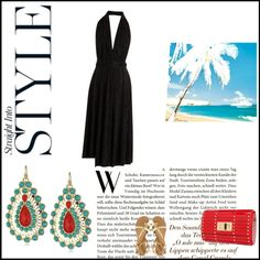 A fashion look from June 2012 featuring ruched dress, block heel sandals and red handbags. Browse and shop related looks. Romantic, Shoe Bag, Night, Polyvore, Stuff To Buy, Design, Women, Fashion, Moda