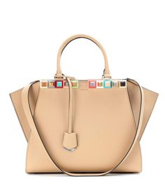 FENDI 3Jours embellished leather tote. #fendi #bags #shoulder bags #hand bags #leather #tote #lining #