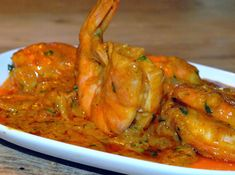 Gamba's in fluwelen curry