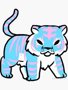 Trans Pride Tiger by strawbebehmod Transgender Symbol, Transgender Ftm, Lgbtq Flags, Pride Tattoo, Trans Boys, Trans Art, Lgbt Love, Anime Furry, Tiger