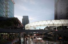 Building Rendering, Architecture Visualization, Sydney Harbour Bridge, Exterior, Landscape, Travel, Buildings, Public, Behance