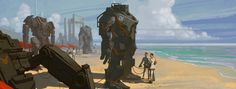 40 Captivating Robot Concepts and Illustrations