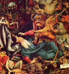 Matthias Grünewald - Retable d'Issenheim La Tentation de Saint Antoine (détail)  1512-1516